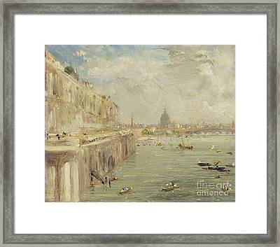View Of Somerset House Terrace And St. Paul's Framed Print by John Constable