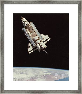 View Of Space Shuttle Framed Print by NASA / Science Source
