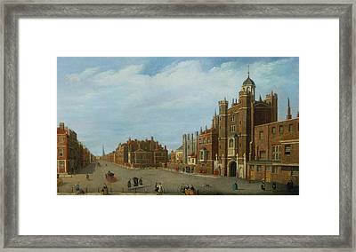 View Of St. James's Palace And Pall Mal Framed Print by William James
