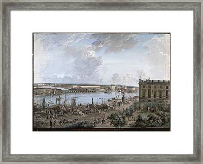 View Of Stockholm 1 Framed Print by Elias Martin