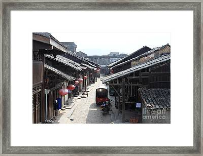View Of Street In Daxu China Framed Print