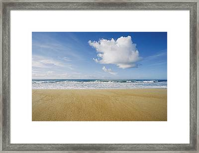 View Of Sun, Sand, And Surf At Cape Framed Print by Skip Brown