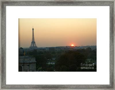 View Of Sunset From The Louvre Framed Print