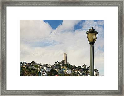 View Of Telegraph Hill Neighborhood San Francisco Framed Print