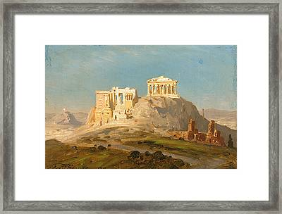 View Of The Akropolis Athens Framed Print