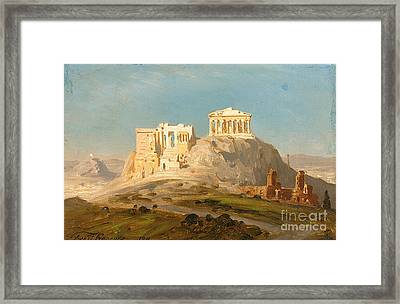 View Of The Akropolis Framed Print