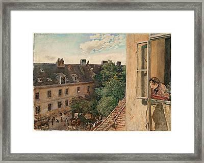 View Of The Alservorstadt 1872  Framed Print