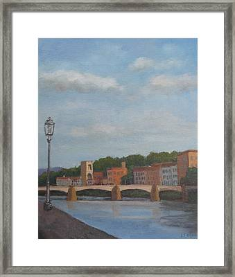 View Of The Arno 2 Framed Print by Jennifer Boswell