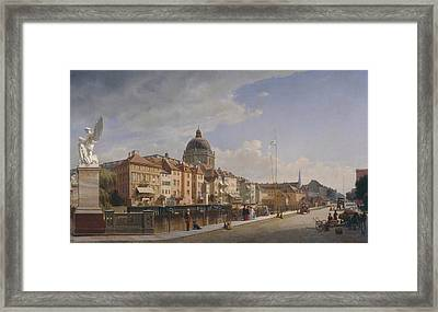 View Of The Back Of The Houses At The Castle Liberty Framed Print