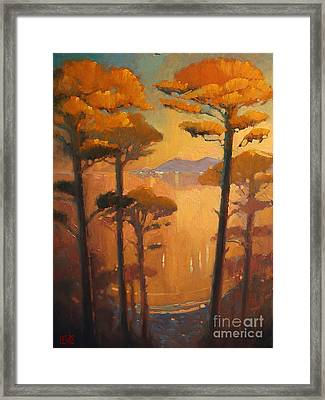 View Of The Bay Framed Print by Robert Lewis