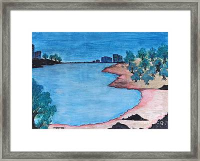 View Of The Beach Framed Print by Timon Timotius