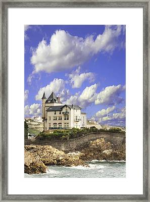 View Of The Beautiful Castle On The Bay Of Biscay Of The Atlantic Ocean Framed Print