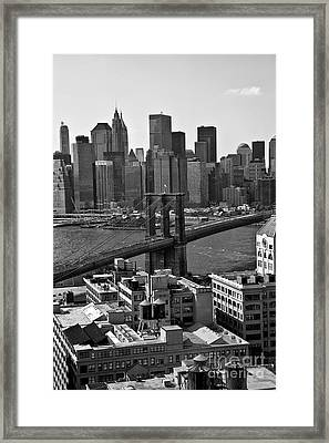View Of The Brooklyn Bridge Framed Print