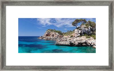 View Of The Cala Salmunia Bay Framed Print