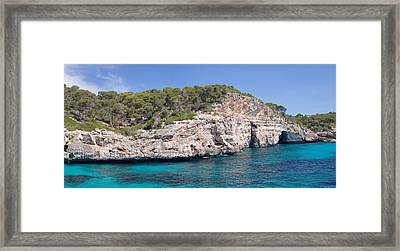 View Of The Calo Des Moro Near Cala Framed Print