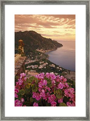 View Of The Coastline From The Hotel Framed Print