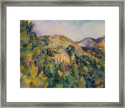 View Of The Domain Saint - Joseph Framed Print by Paul Cezanne