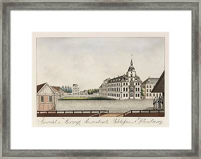 View Of The Ducal Residence Palace In Oldenburg Framed Print