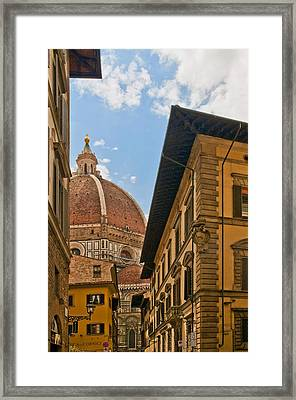 View Of The Duomo Framed Print