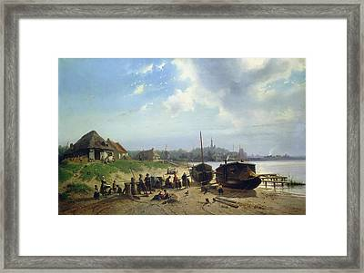 View Of The Dutch Coast Framed Print by Johan Gerard Smits