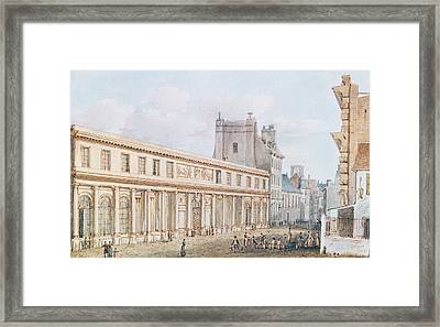 View Of The Ecole De Medecine Framed Print by Victor Jean Nicolle