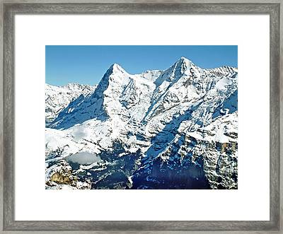 View Of The Eiger From The Piz Gloria Framed Print by Joseph Hendrix