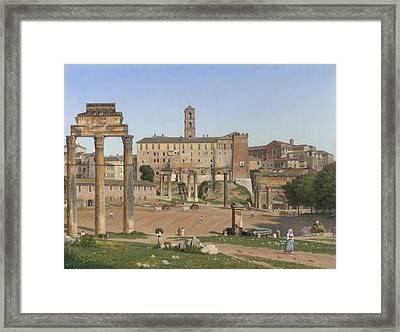 View Of The Forum In Rome Framed Print