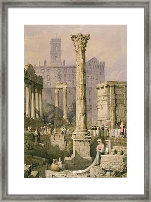 View Of The Forum, Rome  Framed Print