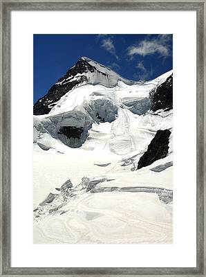 View Of The Glacier Framed Print by Anne Keiser