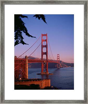 View Of The Golden Gate Bridge Framed Print by American School