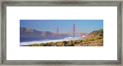 View Of The Golden Gate Bridge, San Framed Print by Panoramic Images
