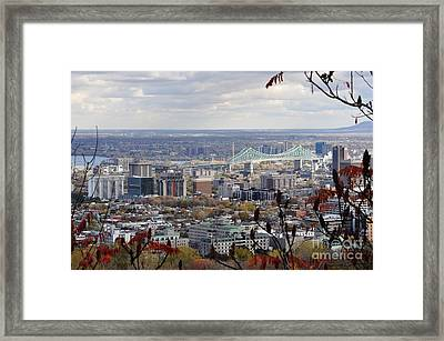 View Of The Jacques Cartier Bridge Framed Print by Reb Frost