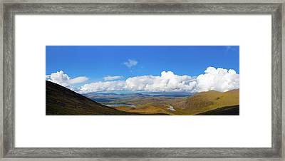 Framed Print featuring the photograph View Of The Kerry Landscape From Macgillycuddy's Reeks by Semmick Photo