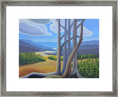 View Of The Lake Framed Print