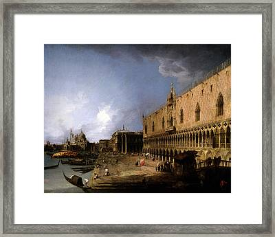 View Of The Molo Framed Print by Giovanni Antonio