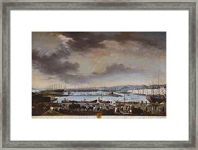 View Of The Old Port Of Toulon Framed Print by Celestial Images