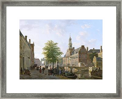 View Of The Old Women And Children Home To The Sick Framed Print by Bartholomeus van Hove