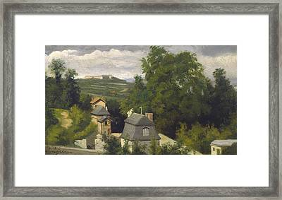 View Of The Outskirts Of Caen Framed Print by Stanislas Victor Edouard Lepine