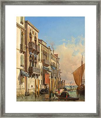 View Of The Palazzetto Contarini Pheasant Conditions Framed Print by Celestial Images