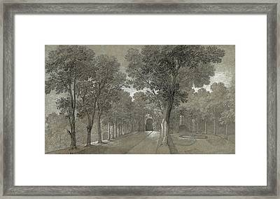 View Of The Park At Arcueil Framed Print by Jean Baptiste Oudry