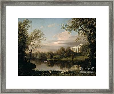 View Of The Pavlovsk Palace Framed Print by Carl Ferdinand von Kugelgen