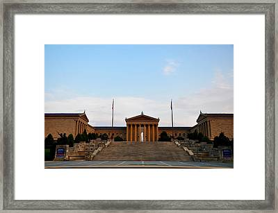 View Of The  Philadelphia Museum Of Art Framed Print