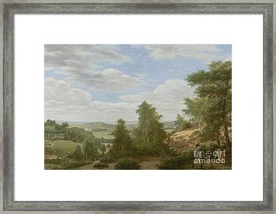 View Of The Plain Of Montmorency In St Leu Framed Print