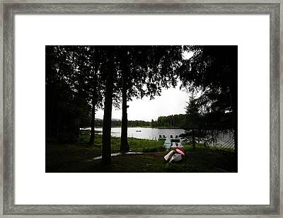 Framed Print featuring the photograph View Of The Pond by David Patterson