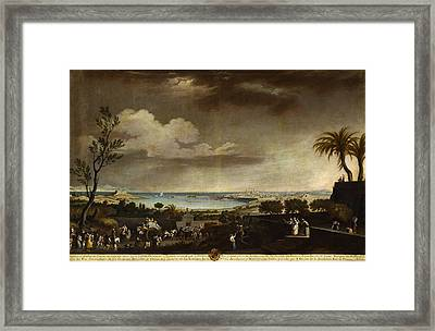 View Of The Port Of Antibes Framed Print by Celestial Images