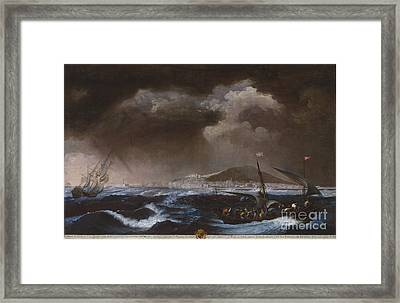 View Of The Port Of Sete Framed Print by Celestial Images