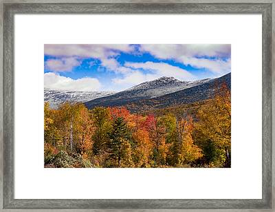 View Of The Presidential Mountains Framed Print