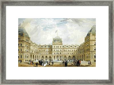 View Of The Quadrangle Of The New Liverpool Exchange  Framed Print