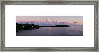 View Of The Rendezvous Bay At Sunset Framed Print by Panoramic Images