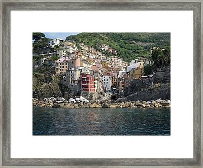View Of The Riomaggiore, La Spezia Framed Print by Panoramic Images